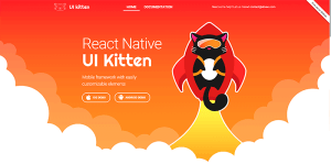 React Native UI Kitten Mobile framework with easily customizable elements
