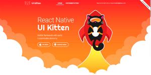 React Native UI Kitten Mobile framework with easily customizable elements