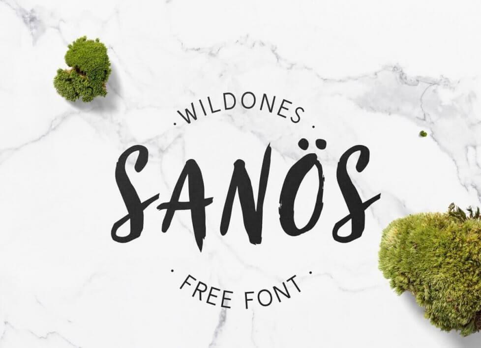 Sanös Free Brush Script Font