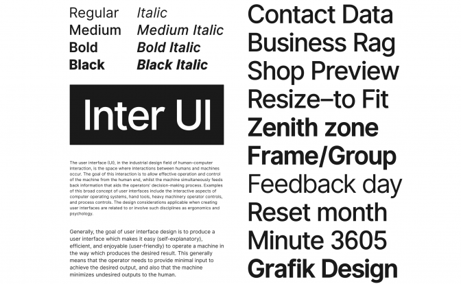 The Inter UI free font