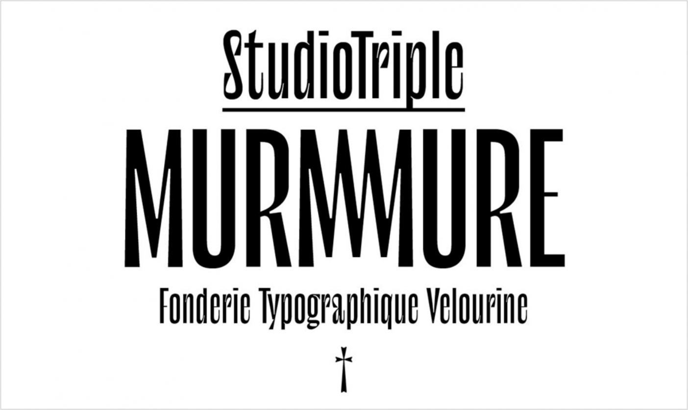 Murmure free font