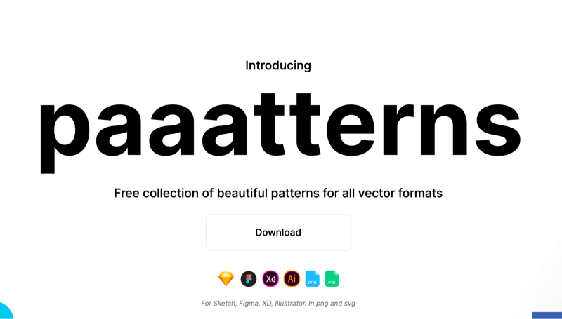free collection of patterns for all vector formats