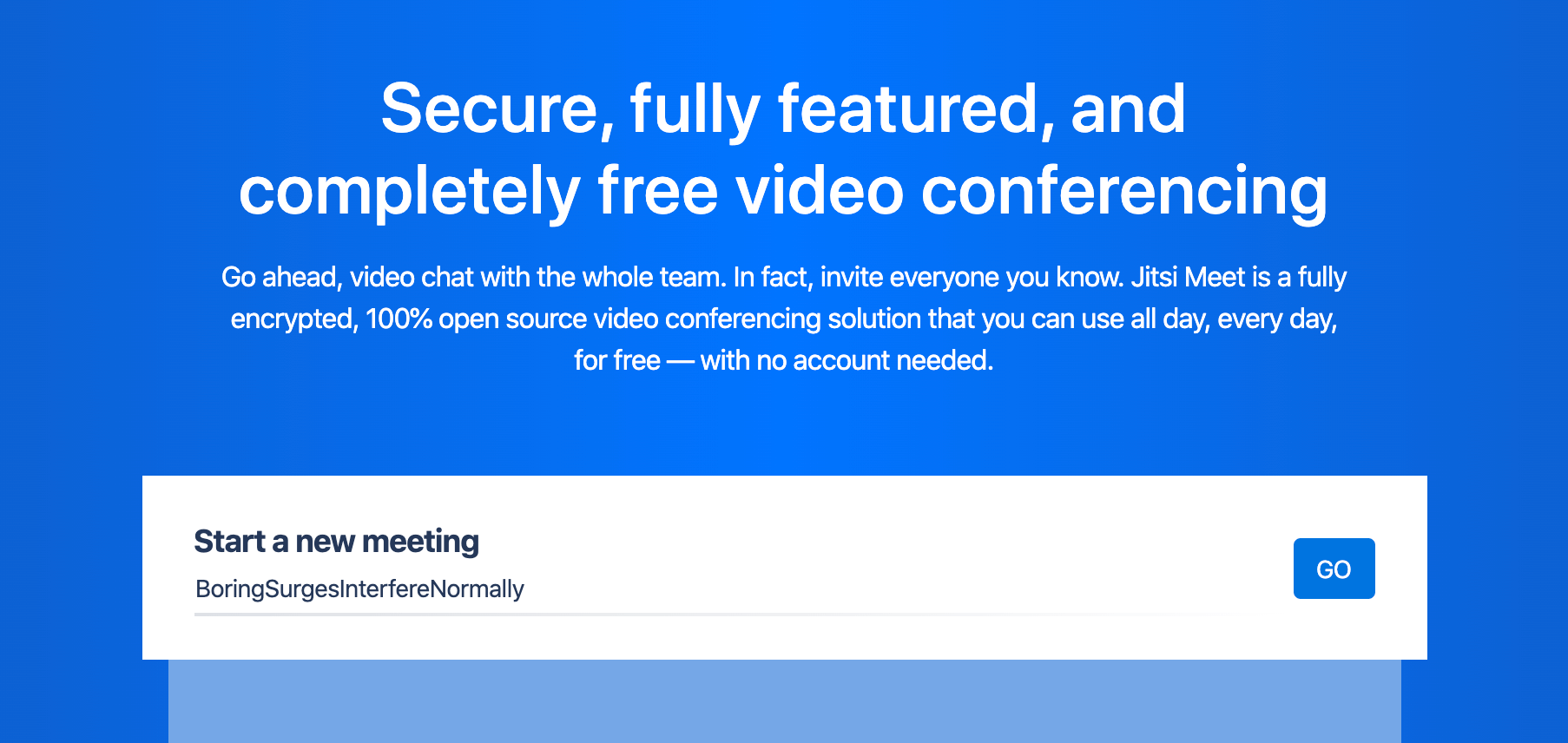 Jitsi Meet Free Video Conferencing