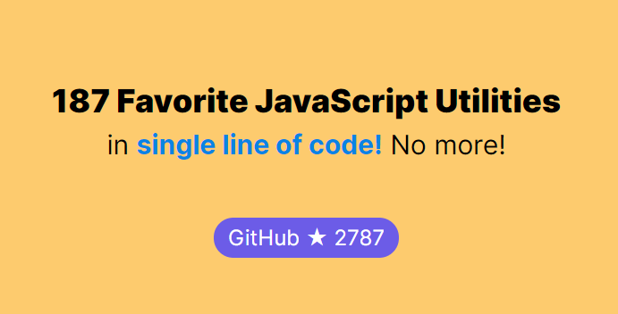 187 Favorite JavaScript Utilities